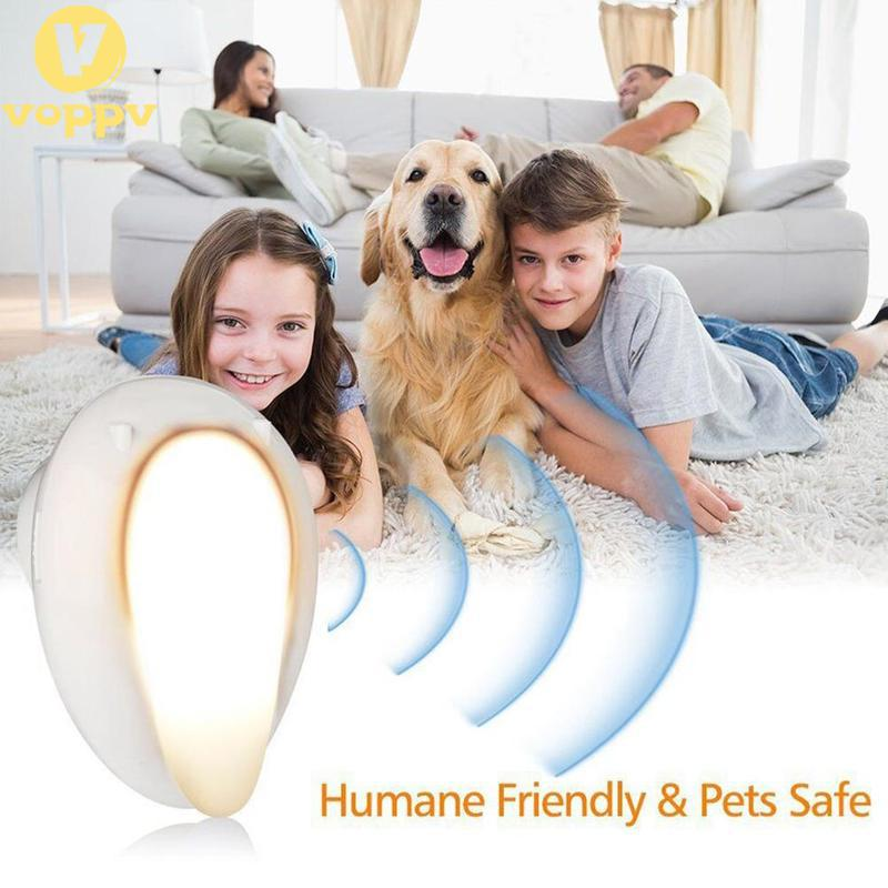 VOPPV Ultrasonic Pest Repeller  Bug Repellent  Mosquito Killer  Smart Plug In Electronic Pest Reject With Night Light For Mic