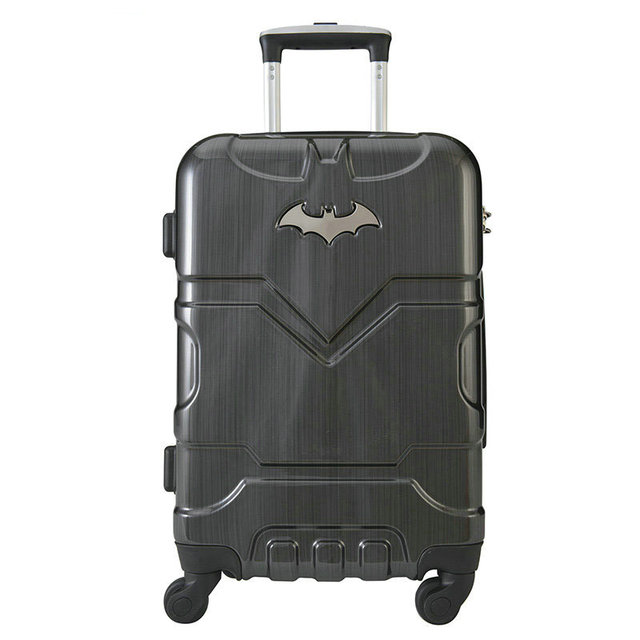 "Batman Men and Women Fashion Trolley Luggage Bags High-Quality Travel Suitcase Universal Wheels Luggage 20"" 24"" Hardside Luggage"