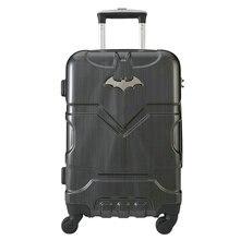 Batman Men and Women Fashion Trolley Luggage Bags High-Quality Travel Suitcase Universal Wheels Luggage 20″ 24″ Hardside Luggage