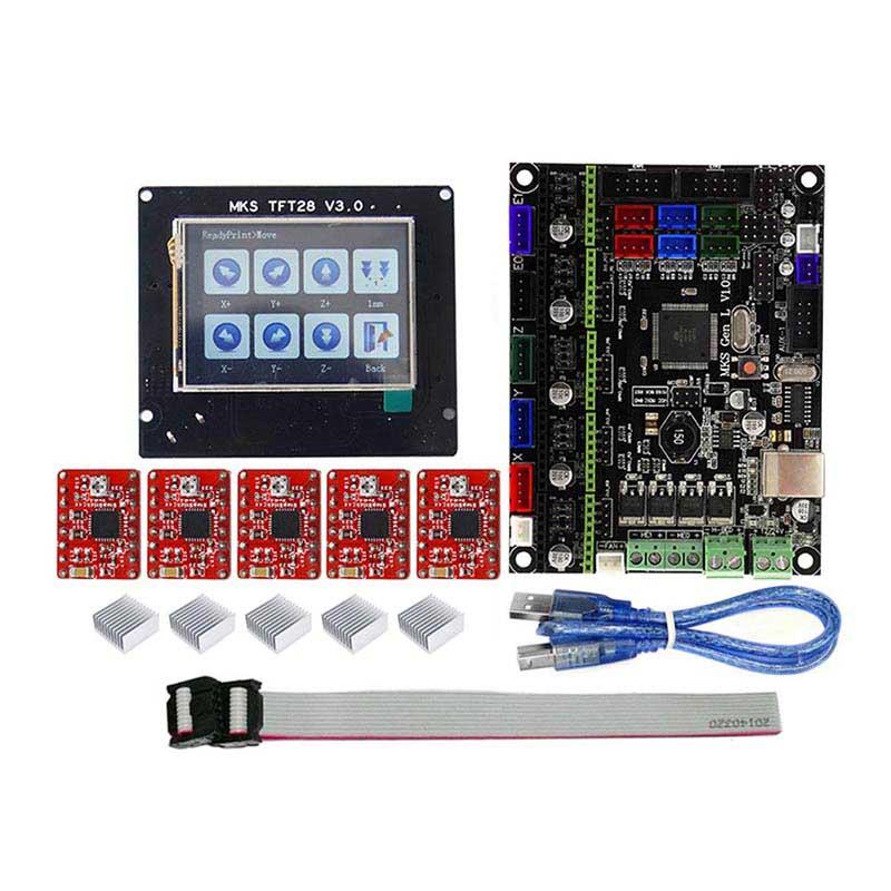 MKS GEN L MKS TFT28 LCD Minipanel Toccare Display 3D Kit di Stampa con A4988 Driver QJY99MKS GEN L MKS TFT28 LCD Minipanel Toccare Display 3D Kit di Stampa con A4988 Driver QJY99