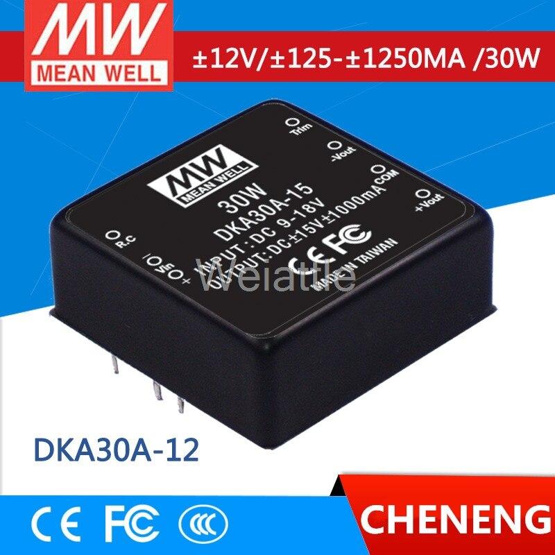 MEAN WELL original DKA30A-12 12V 1250mA meanwell DKA30 12V 30W DC-DC Regulated Dual Output Converter