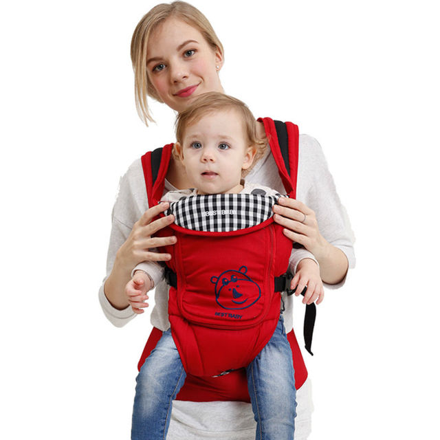 Bestbaby 100% Cotton Baby Carrier High Quality Ergonomic Comfort Multifunctional Adjustable Backpack NH1007 Free Shipping