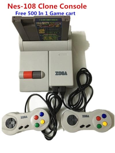 NES 108 Clone Console Free  500  in 1NES Game Cartridge