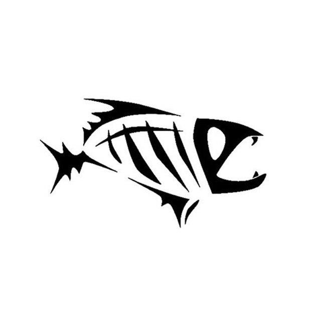 yongxun 16 9cm tribal fish skeleton car sticker decals cartoon fish rh aliexpress com skeleton fish logo restaurant fish skeleton logo tshirt