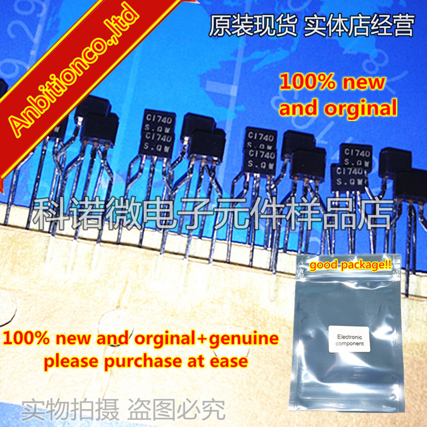10pcs 100% New And Orginal 2SC1740S-Q/R C1740S 2SC1740 C1740 TO-92S Silicon NPN Transistor In A TO-92 Plastic Package In Stock