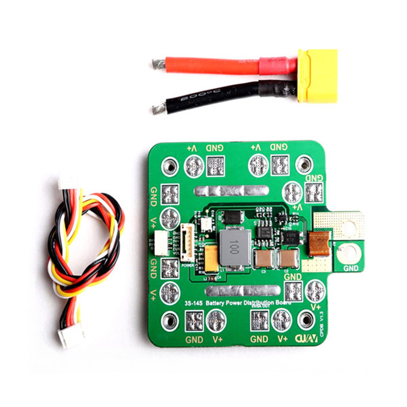 CUAV CPDB Power Distribution Board 10V-60V Input 5V/5A Output PDB for FPV RC Drone 4-8 Axiss VTOL Racing Multirotor Spare Parts hot new aomway ant019 5 8 ghz 8 dbi y antenna sma male for fpv racing drone for rc multirotor fpv system spare parts accessories