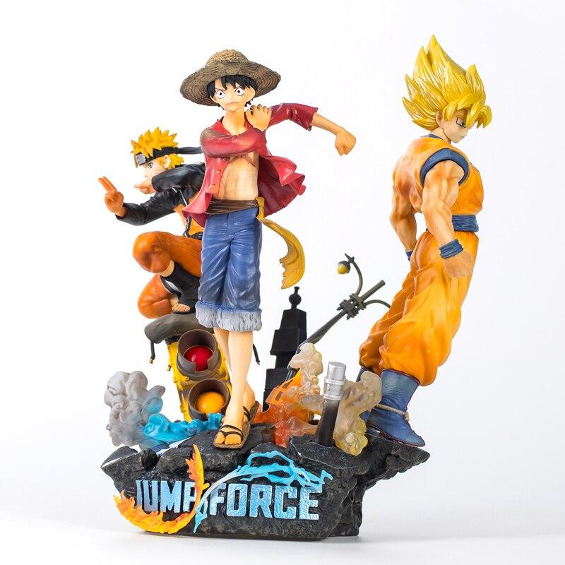 Nouveau une pièce Dragon Ball Naruto PVC Figurine jouet Anime Luffy Son Goku Naruto Figurine modèle à collectionner jouet