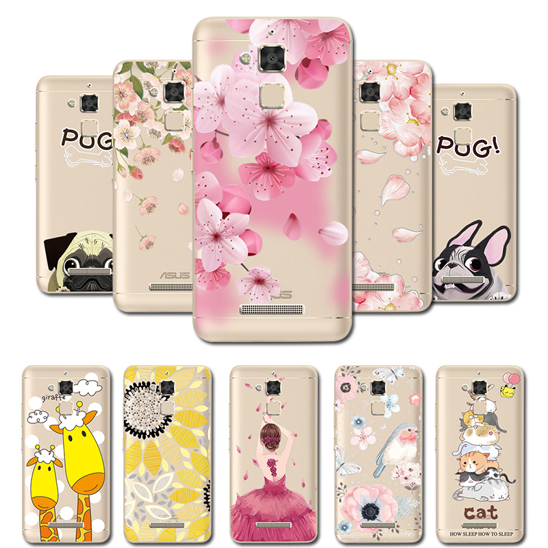 3D Relief Lace Flowers <font><b>Case</b></font> Cover For <font><b>Asus</b></font> Zenfone 3 Max <font><b>ZC520TL</b></font> Soft TPU Cute Phone Shell For Zenfone 3Max ZC 520TL Coque Capa image