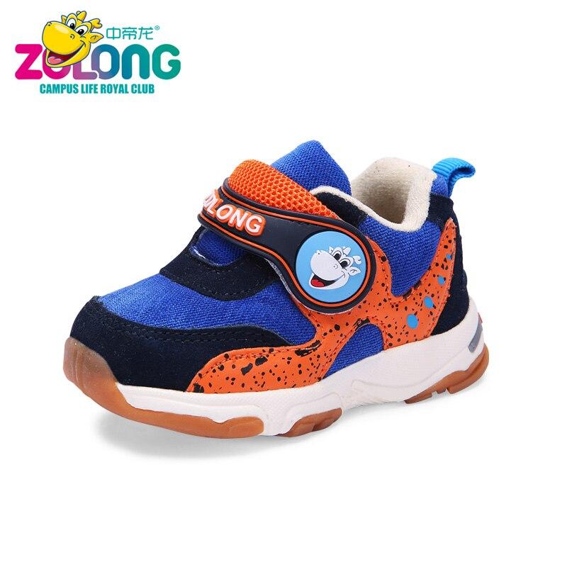 Childrens Cotton Warm Anti-Slip Sneaker Boys Toddler Newborn Jogging Hooks School Sport Gym Footwear Breathable Running Blue