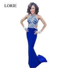 Luxus Kristalle Royal Blue Abendkleider Meerjungfrau 2017 Eleganten Frauen Neuen Stil Formale Lange Abendkleider Hochzeit Party Kleider