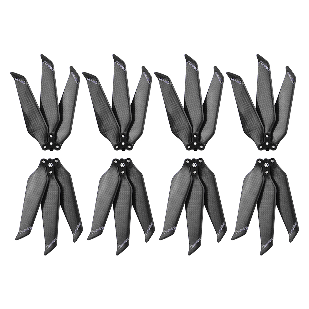 4 pairs DJI Mavic 2 Carbon Fiber Propeller 3 Blade for Mavic 2 Pro Zoom Drone