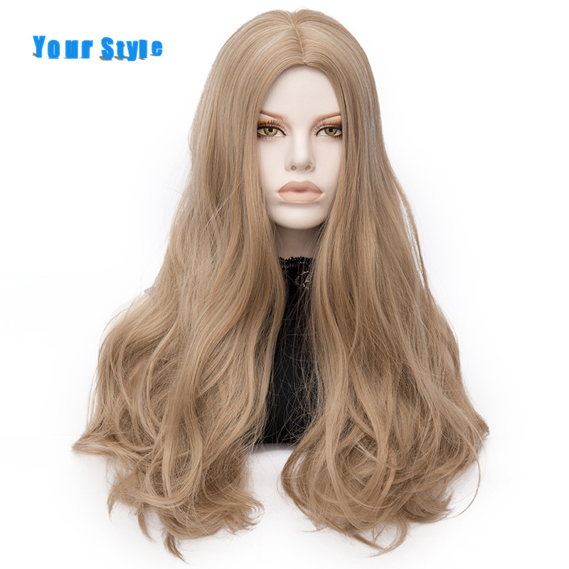 Your Style Long Wig Wavy Cosplay Women Synthetic Heat Resistant Fiber