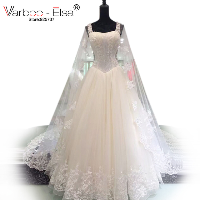 VARBOO_ELSA Dubai Luxury Beaded Crystal Wedding Dress Princess ...