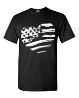 アメリカ国旗ハートホワイトtシャツ月のシャツtシャツホット販売服2018