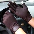 2016 nuevo macho guantes de pantalla táctil guantes de hombres guantes de conducir antideslizantes hombres sección Delgada guantes de invierno 3 colores