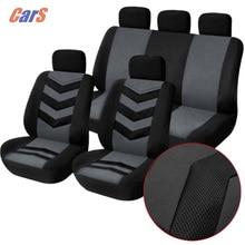 9 Teile/los Universal Auto Sitzbezug Atmungsaktives Mesh Schwamm Sitz-Abdeckung Durable Abdeckungen für Autositze Schwarz Blau