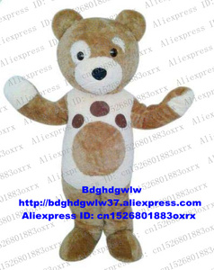 Brown White Charley Bear Care Bear CareBear Mascot Costume Adult Cartoon Character Student Activity American Jubilee zx912(China)