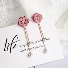 Элегантные женские цветочные ювелирные изделия для ушей Длинная
