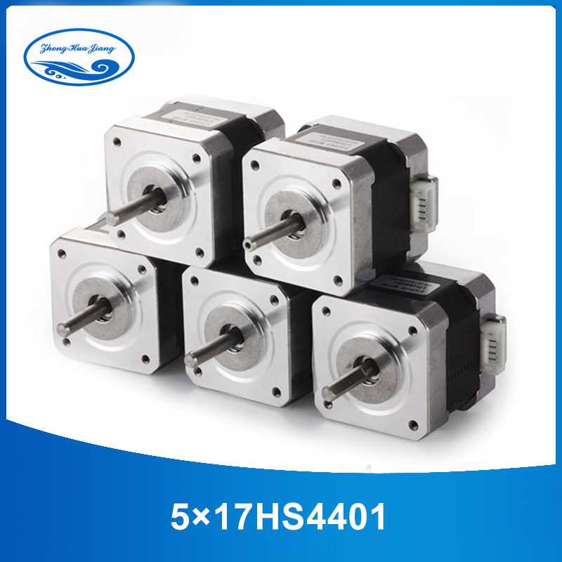 5pcs 4-lead Nema17 Stepper Motor 42 motor Nema 17 motor 42BYGH 1.7A (17HS4401) 3D printer motor and CNC XYZ 5pcs 4 lead nema17 stepper motor 42 motor nema 17 motor 42bygh 38mm 1 5a 17hs4401 motor for cnc xyz 3d printer motor