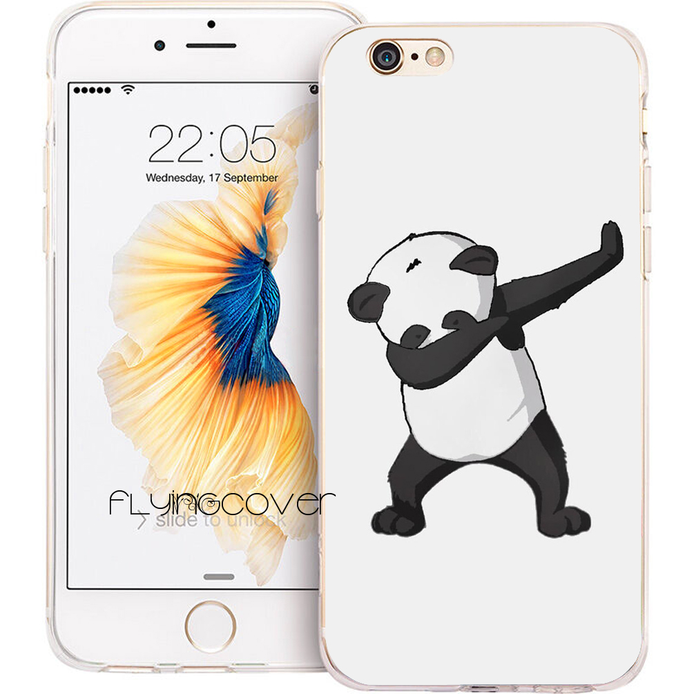 Coque Panda Dab EM Dance Clear Soft Silicone Phone Cases for iPhone XS Max XR X 7 8 6 6S Plus 5S 5 SE 5C 4S 4 iPod Touch 6 5.