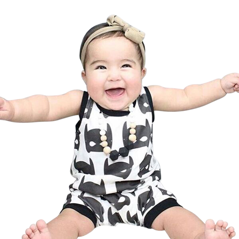 Baby Clothing New Cute Baby Rompers Sleeveless Cartoon Toddler Infant Newborn Baby Clothes One-piece Halloween Costumes
