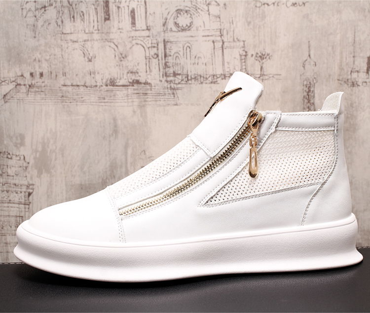 Été homme baskets chaussures creux respirant haute aide chaussures décontractées pour hommes marques à lacets en plein air marche appartements mâle envoi rapide