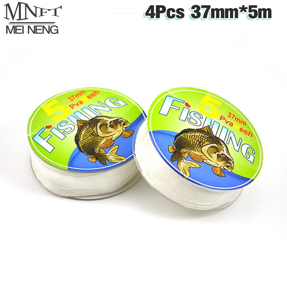MNFT Hot Sale In Spool 4PCS PVA Mesh Refill for Carp Fishing 37mm*5m Carp Fishing PVA Bag Free Bait Cast Mesh for Hair Rig