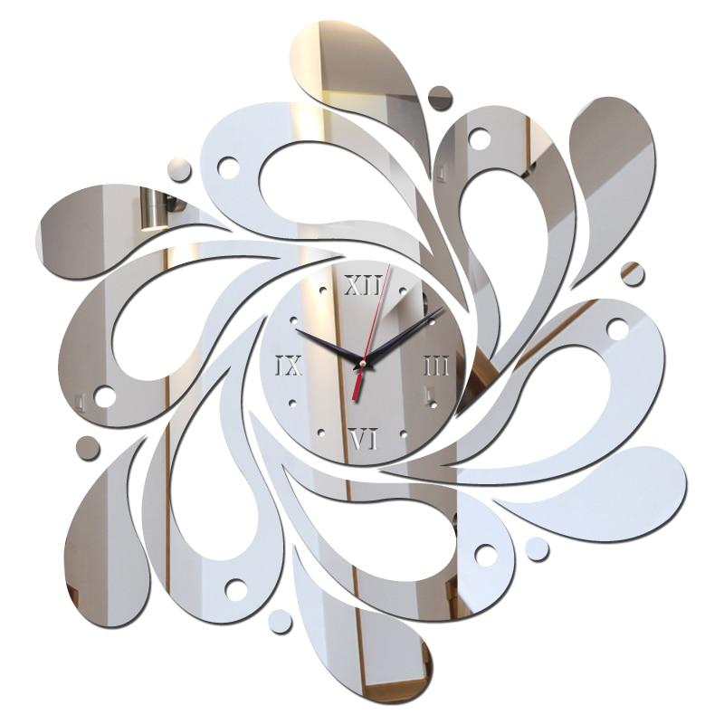 Special Offer mirror wall art acrylic wall clock stickers quartz watch children watch new modern home decor diy clockes