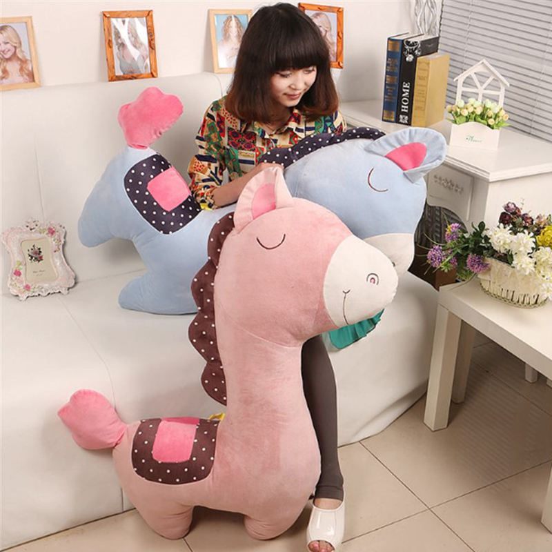 Fancytrader 100 cm Giant Leuke Zachte Animal Paard Pluche Kussen 39 ''Grote Gevulde Cartoon Paard Speelgoed Pop Baby Present - 2