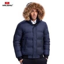 Coats Down-Jacket MALIDINU Duck Men Winter Fur Warm Thick Wear Real-Raccoon
