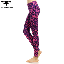 Yoga Sports Leggings For Women Fitness Elasticity Printed Yoga Leggings Compression Yoga Pants Running Tights Womens