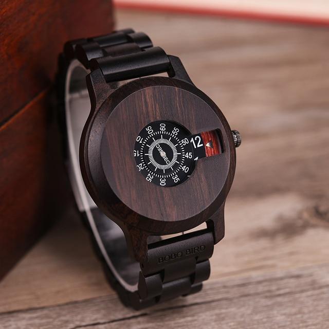 Bobo Vogel Mannen Horloge Elegante Houten Horloges Unieke Fashion Design Idee Geschenken Custom Klok Dropshipping C eR26