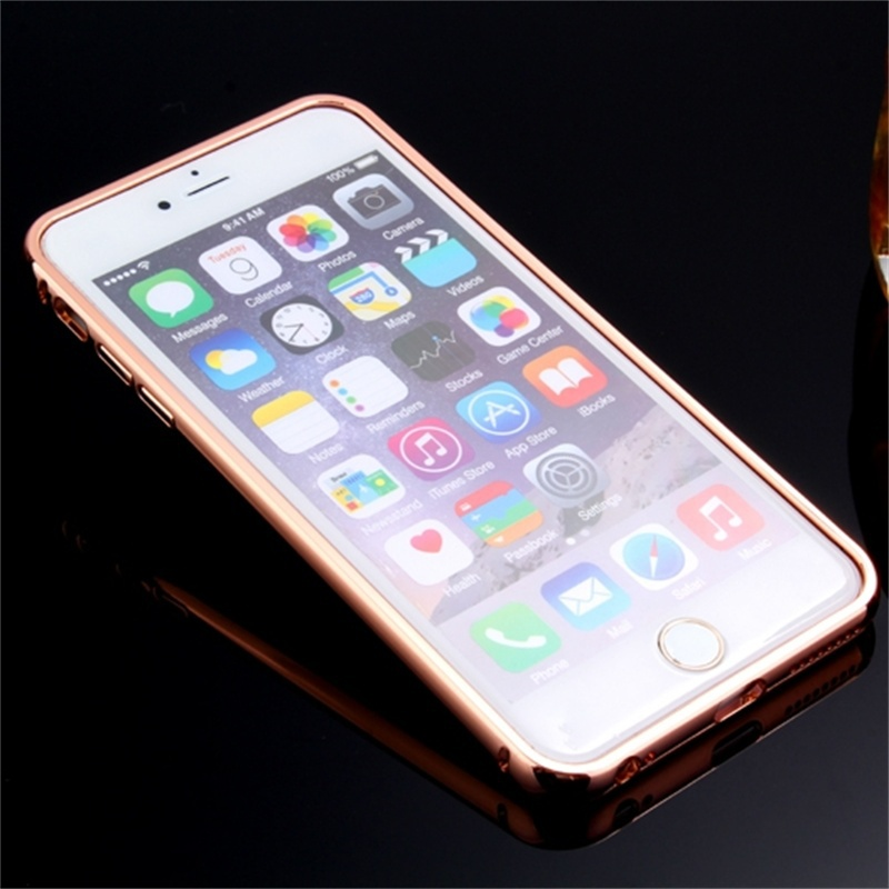 Xinchentech Untuk iphone 6/6 S Plus Kasus Mewah Cermin Logam + Hard - Aksesori dan suku cadang ponsel - Foto 2