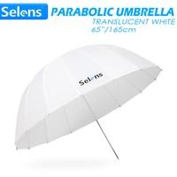 Selens 65 165cm Parabolic Translucent White Umbrella for Speedlite Studio Flash Soft Lighting Diffuser w/ Carrying Bag