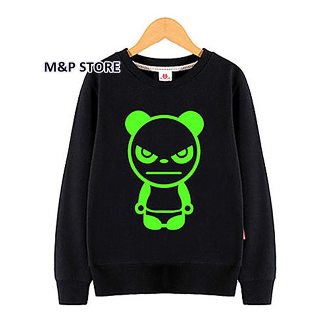 Crianças Pullover Noctilucent luminous luz 3d impressão camisola do hoodie do hip hop do homem aranha bat man super basquete primavera topos negros