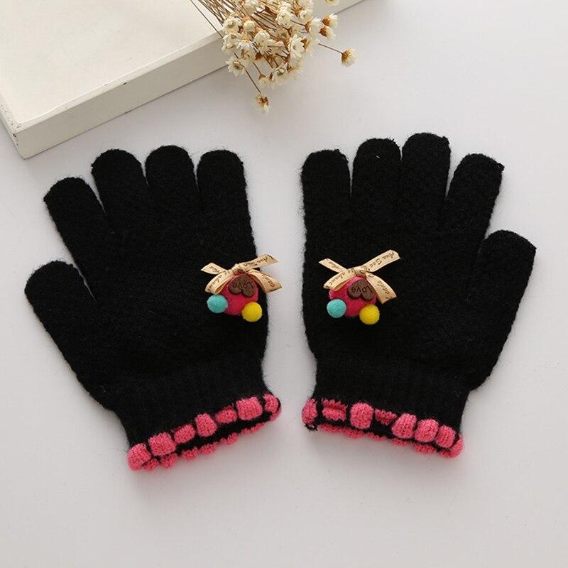 Cute Children Girls Gloves Knitting Pattern Warm Imitation Cashmere ...
