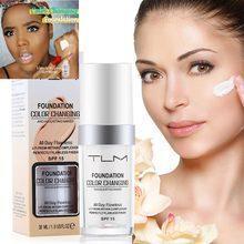 30 мл TLM меняющий Цвет основа для макияжа солнцезащитный крем SPF 15 натуральный цвет Осветляющий, увлажняющий