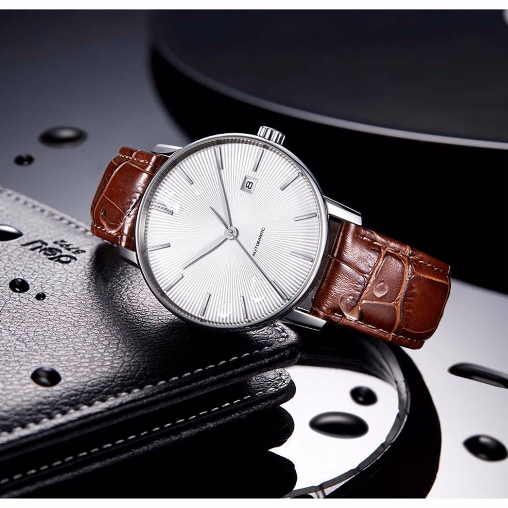 Image 2 - Original xiaomi mijia TwentySeventeen Mechanical watch With Sapphire Surface Leather Strap Fully automatic mechanical movement-in Smart Remote Control from Consumer Electronics