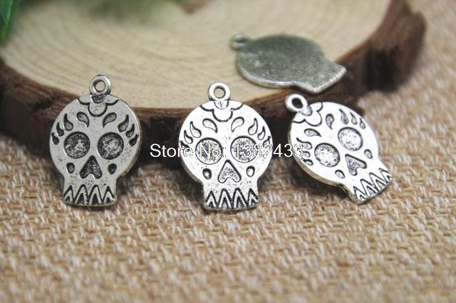 20pcs mexican sugar skull charms antiqued silver tone sugar skull 20pcs mexican sugar skull charms antiqued silver tone sugar skull charm pendants 22x16mm mozeypictures Choice Image