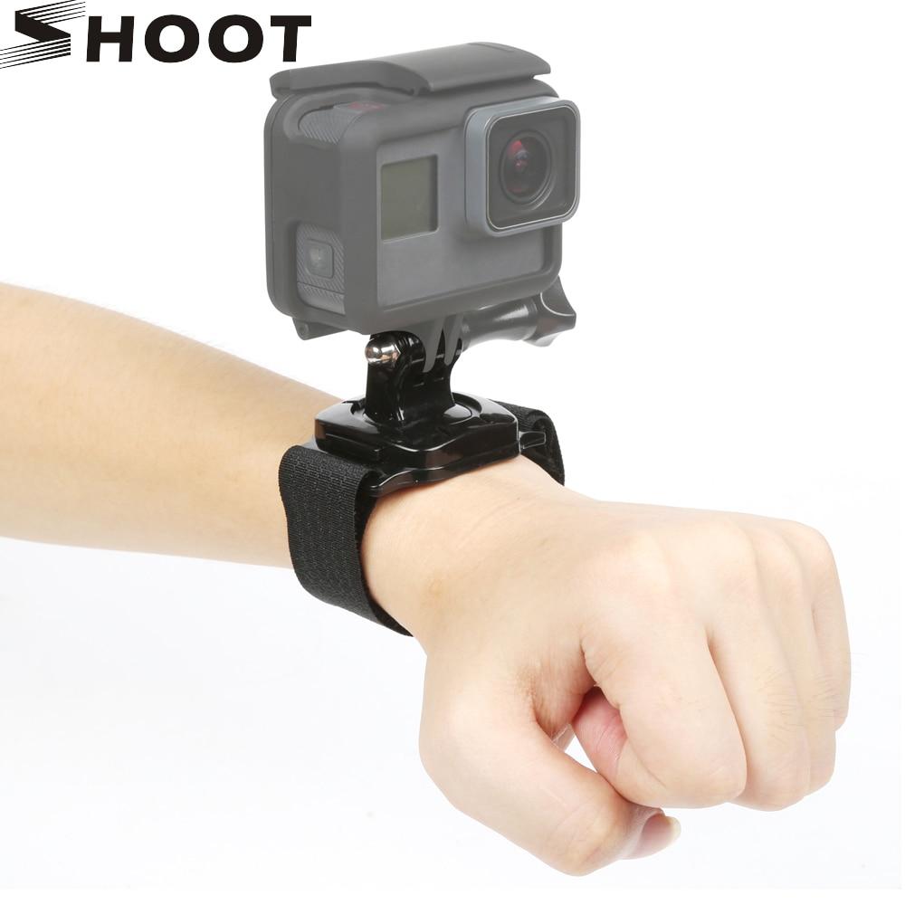 SHOOT 360 Degree Rotation Camera Wrist Strap Mount for Gopro Hero 5 3 4 Session Xiaomi Yi 4K SJCAM Eken Action Camera Accessory 2 aixs 2d brushless camera gimbal for gopro sjcam xiaomi yi action camera eken f450 f550 s500 fpv drone multirotor quadrocopter