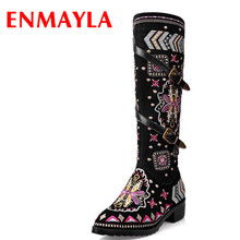 New Fashion Shoes Boots for Women Genuine Leather Motorcycle Boots Round Toe Casual Autumn Winter Women Knee High Boots new fashion shoes boots for women genuine leather motorcycle boots round toe casual autumn winter women knee high boots