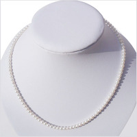 4 5mm small round natural pearl necklace freshwater pearl necklace silver buckle >>>>Free shippingk