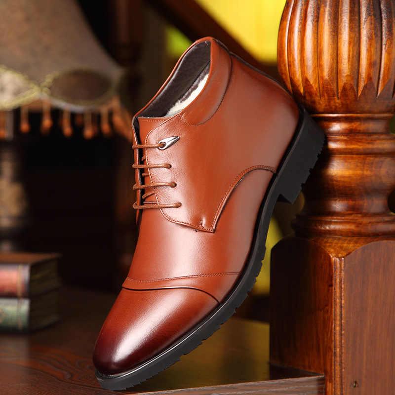 NPEZKGC/Новинка; мужские зимние ботинки ручной работы из натуральной кожи; высококачественные зимние мужские ботинки; ботильоны для мужчин; деловая модельная обувь для мужчин