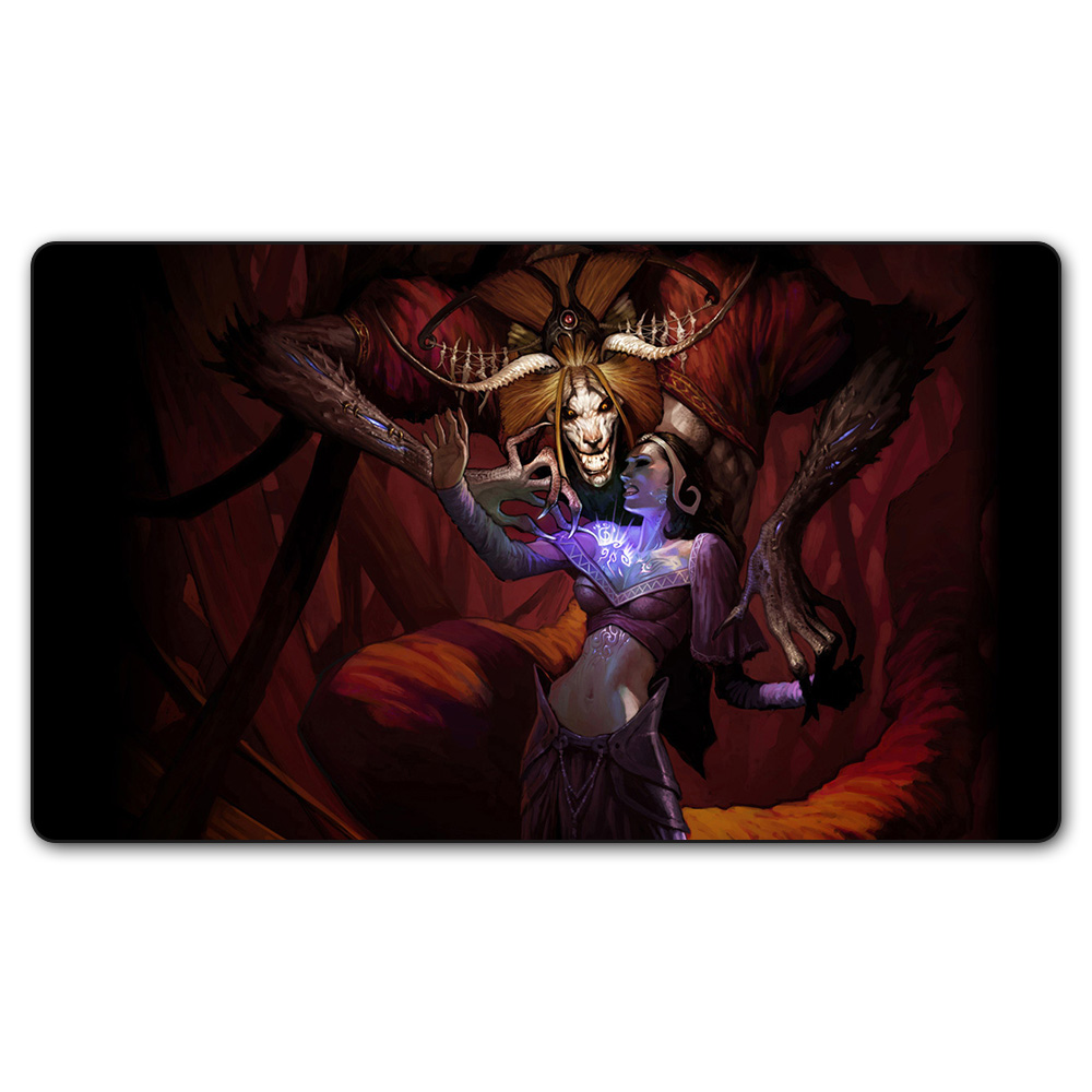 (Demonic Tutor) Magic Game Playmat,Board Games Board The Pad Play Mat,Custom Big Mousepad MGT Table Pad with Free Bag