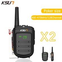 2 UNIDS BUXUN X-35TFSI Walkie Talkie 8 W Handheld Pofung 128CH UHF 8 W 400-470 MHz de Dos vías CB Radio Portable