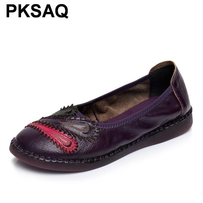Casual Confortable sky Cuir Appartements Plat Lady Fashion2019 red Black Véritable gray purple Femmes Femme En Chaussures Blue Nouveau qxXOwwzv