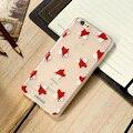Cute Fox Black Pine Cones Acorns Cartoon Phone Cases For iPhone 7 7 Plus Case 6 6S Plus 5 5S SE Cover 3D Embossed Print Coque