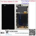 Оригинальный Тест ЖК-Экран для Sony Xperia Z L36 L36h L36i C6603 Сенсорный дисплей Планшета + рамка Ассамблея черный/белый/фиолетовый