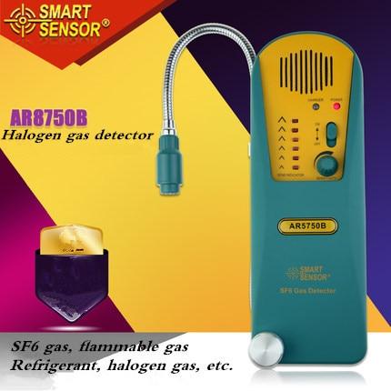 AR5750B digital Halogen Gas Detector alarm SF6 Gas leak Detector Freon Gas Analyzer r134a refrigerant gas r134a Tester Meter