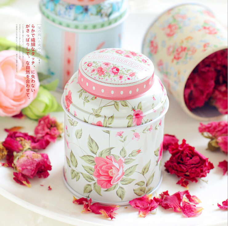 12pcs Europe type style Tea caddy receive box candy storage box wedding favor tin box cable organizer container household